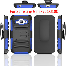 Wholesale 3 in 1 hybrid robot mobile phone case for Samsung Galaxy J1 J100 Armor Cover