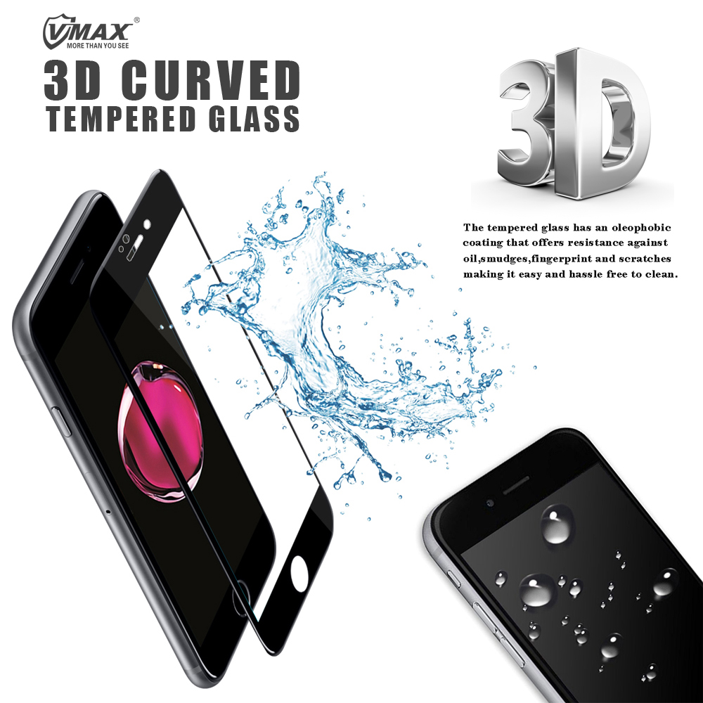 Wholesale ! Full Cover 0.33mm Thickness 3D Curved 9H Tempered glass screen protector for iPhone 6s / 7 Plus