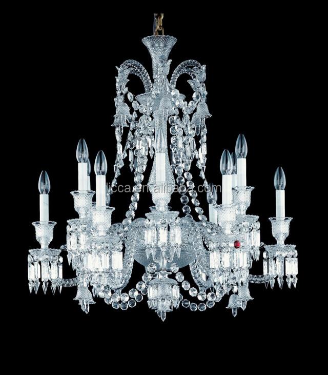 12 Lights Elegant Crystal Chandelier Art Deco Baccarat