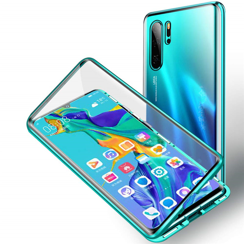 Double Sides Full Cover Tempered Glass P smart <strong>Z</strong> Cover High Responsive Case Friendly for Huawei Y9 prime 2019 Magnetic Hard case