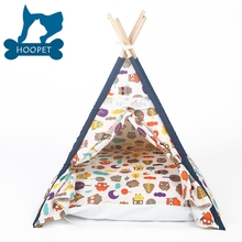 LoveTree Soft Pet Tent Outdoor Wooden Teepee Washable Durable Foldable Small Dog and Cat Tent Dog Bed