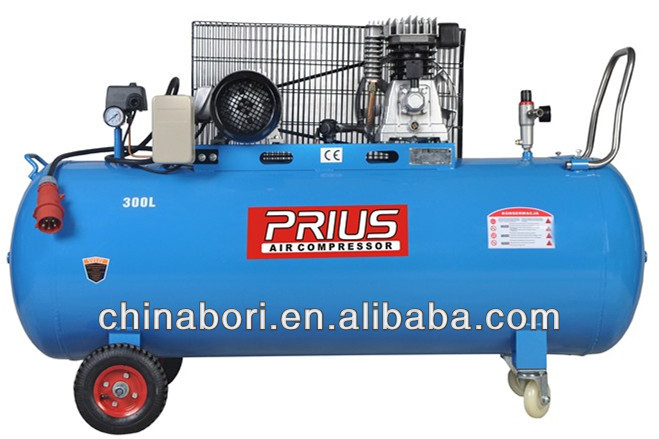 Popular hot design 5.5HP 17.6CFM ITALIAN STYLE BELT DRIVE PISTON AIR COMPRESSOR 300L 2090/8