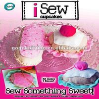 DIY cupcake sewing felt craft kit