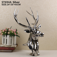 Modern style alibaba new products resin kinds of deer head figure resin statue