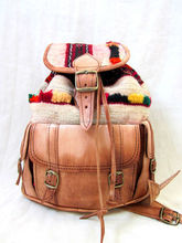 Adorable Moroccan Handmade Genuine Leather Kilim Backpacks