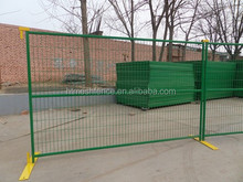Green yellow spray PVC coated Canada Standard 6ftx9.5ft Temporary mobile Fencing panel professional factory