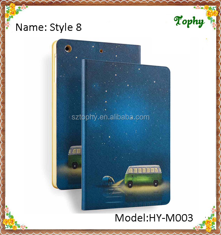 Wholesale Starry Sky Bus Folio Fold Flip Smart Leather Cover Tablet Case for iPad mini 1 2 3 Cases for ipad mini Cover