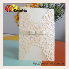 Elegant ribbon Floral Wedding Invitation Card Laser Cut Wedding Invitations Romantic