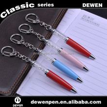 Crystal key chain metal ballpoint pen, Mini pen