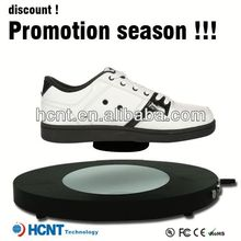 new invention ! magnetic levitating led display stand for shoe woman,largest shoe manufacturer