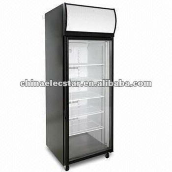 1-door Display Fridge/Freezer with Top Mount, Fully Removable Refrigeration Deck