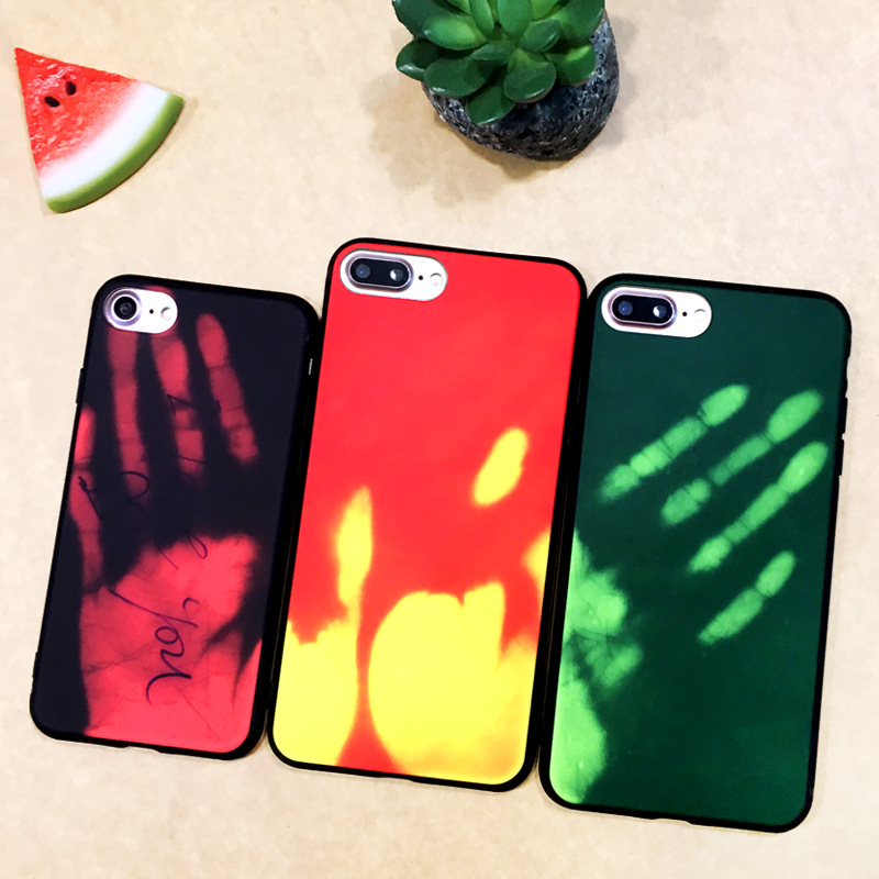 NEW Design Color Can Change Phone Case for iPhone 7 Heat Sensitive Discoloration TPU Mobile Phone Case