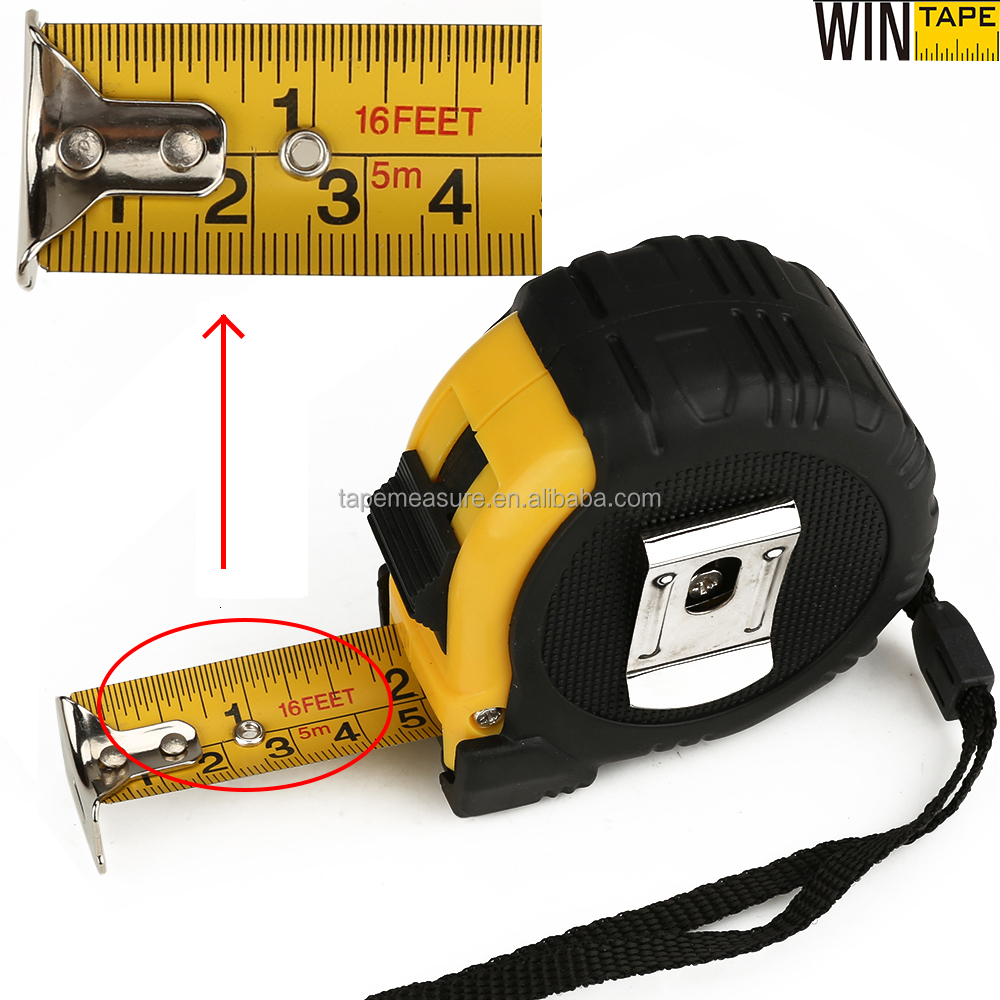 Free Samples Rubber Covered ABS Tools Case Rolling Steel Tape Measure 5m