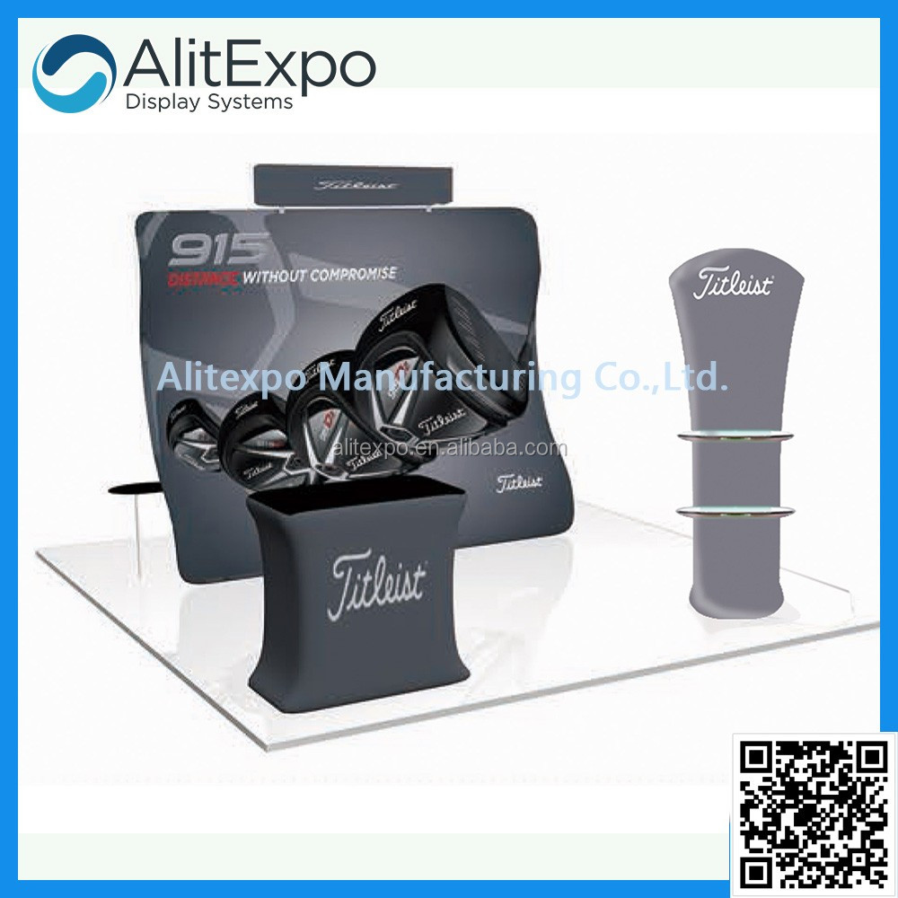 Manufacturer of special customized exhibition display stand, fair trade show booth tension fabric booth