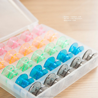 J507 Multifunctional Transparent Bobbin Box plastic storage box with dividers