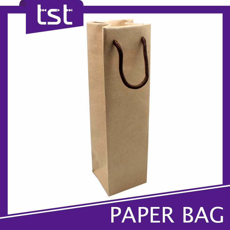 Printing Decorative Paper Bag For Wine Bottle