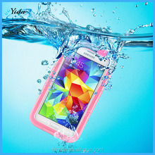 High Quality hot sale pink plastic phone waterproof case for Samsung Galaxy S5