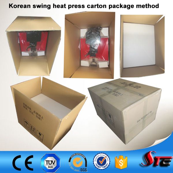 CE Korean manual head shaking Dongguan heat presses