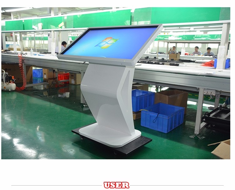 interactive touch screen kiosk with mini pc and digital menu board