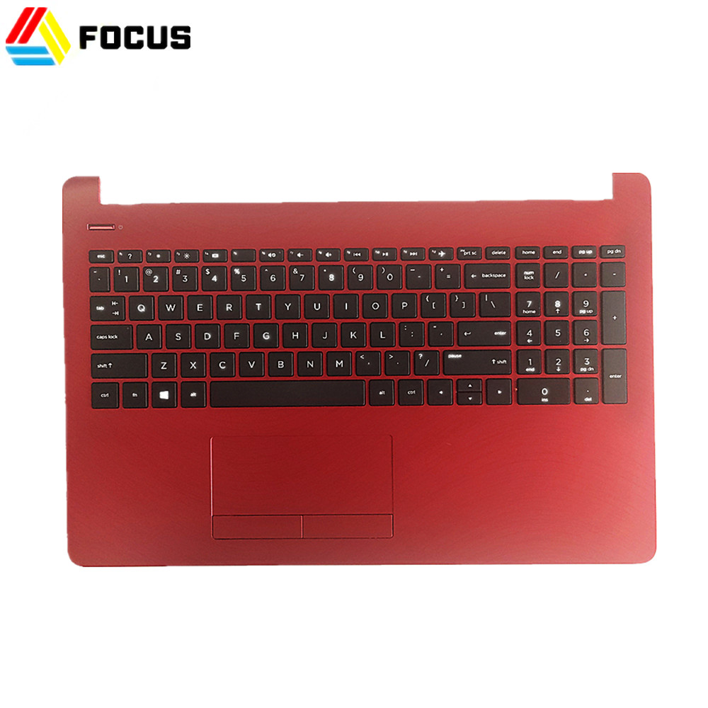 Original New Red Laptop Palmrest <strong>w</strong> Keyboard Touchpad Assembly for HP Pavilion 15-BS 15-BW PN L19446-<strong>001</strong>