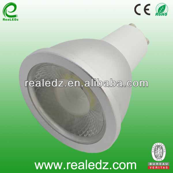 cob LED spotlight 5w aluminum casing MR16 GU10 stamping aluminum 38degree cob led AC85~265V