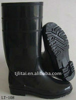 Good Quality cheap clear men black pvc rain boot,mens boot casual