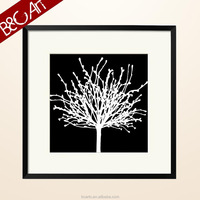 Z(10159) Ps material frame and Simple tree printed art painting picture for wall hanging