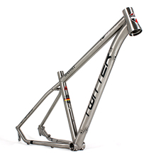 China made titanium alloy mountain bike frame with BB68mm Threaded