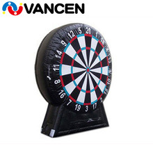 Custom digital printing Football Carnival Black and White Outdoor playground Sport Games Inflatable soccer dart board