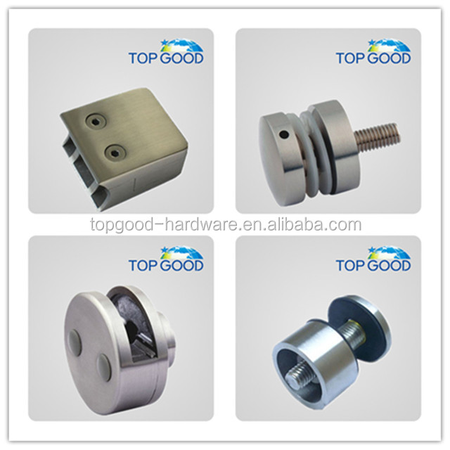 stainless steel railing chrome electroplating glass clamp