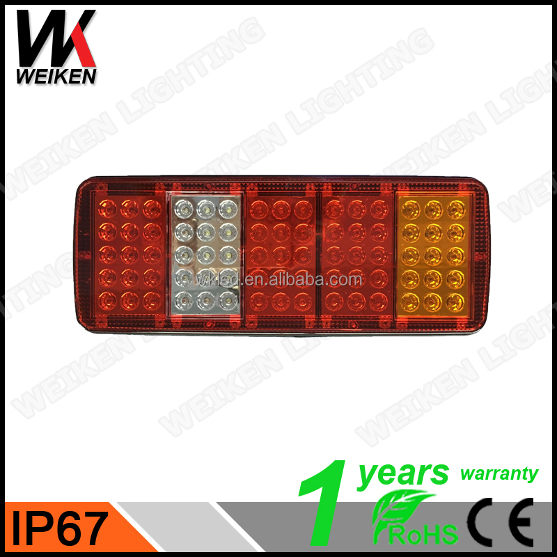 WEIKEN Auto spare parts Multifunctional trailer stop tail light rear lamp led truck light