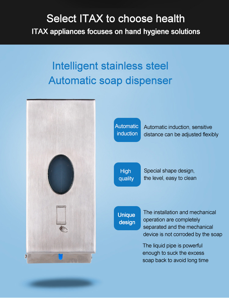 Wall mounted automatic soap dispenser soap box hand washing machine intelligent induction soap dispenser