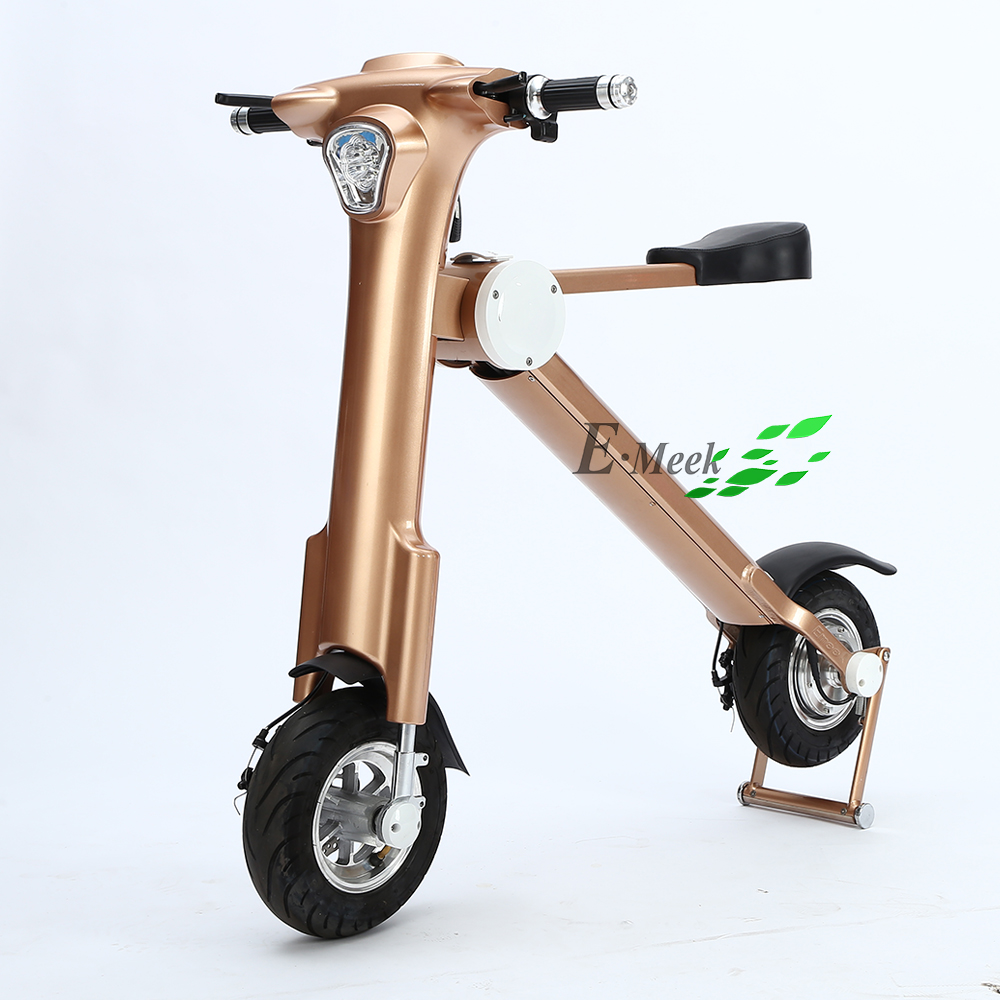 Golden color 36V 350W folding electric motorcycle with dropshipping