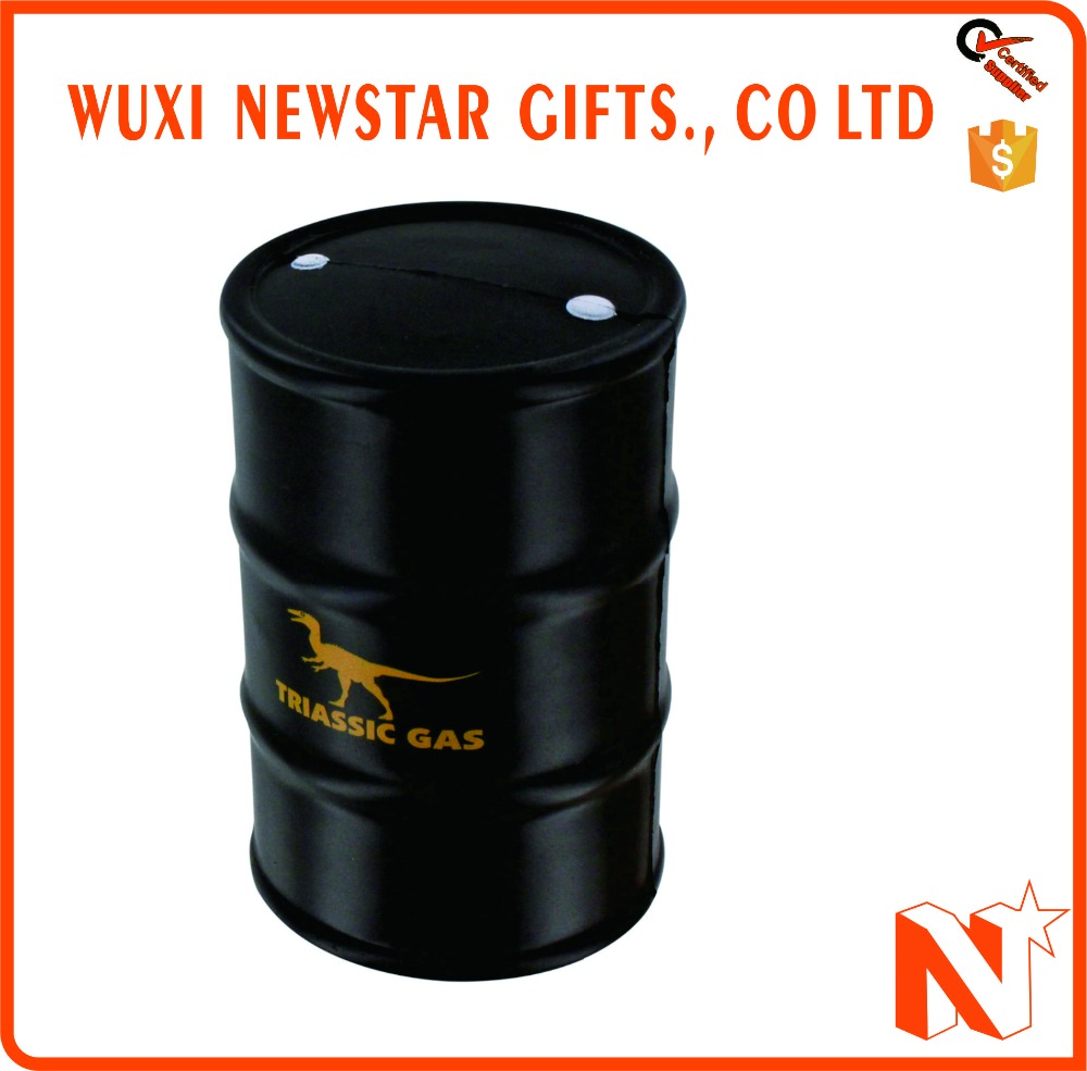 Promotional Customized Logo Oil Drum Stress Ball