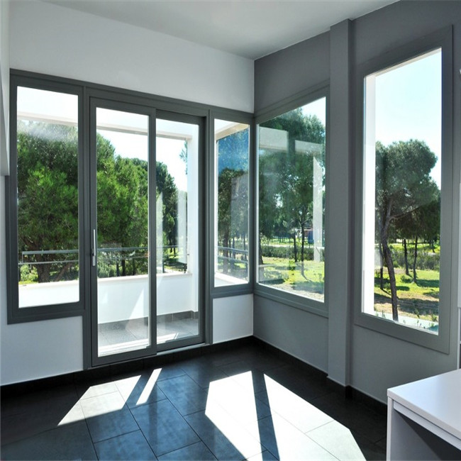 interior burglar proof sliding window glass window and door