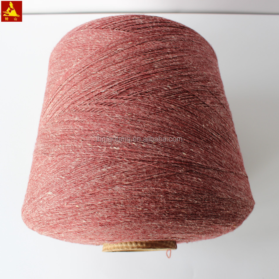 Best quality spot / dot / neps wool blended slub knitting yarn
