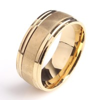 smooth gold finger ring without stone