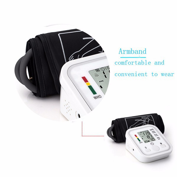 2018 New Free Blood Pressure Armband Monitor,Rechargeable Digital Blood Pressure Monitor