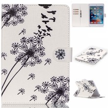 High Quality Colorful Patterns PU Leather Flip Case Cover for iPad Mini 4 with Kick Stand