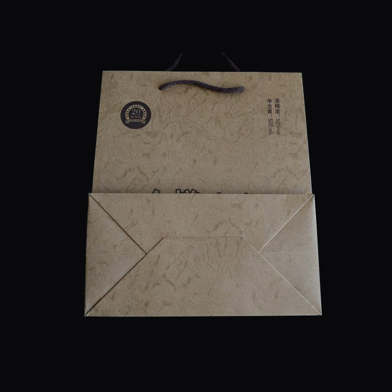 classic design Chinese factory OEM production Custom logo printed brown kraft take away food package gift shopping paper bag