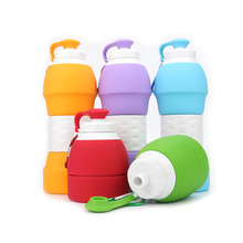 Wholesale Eco-Friendly Unique Squeeze <strong>Sports</strong> Cool Bicycle Silicone Collapsible Water Bottles