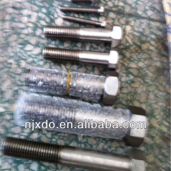hastelloy c276 bolt uns n10276 /din2.4819 bolts and fasteners metric hex head bolt dimensions