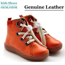 New Arrivals High Quality Genuine Leather Kids casual boots 2014
