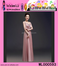 2015 New Model High Quality Chiffon Party Dress Elegant Ladies Free Shipping Ladies Pearl Evening Dress