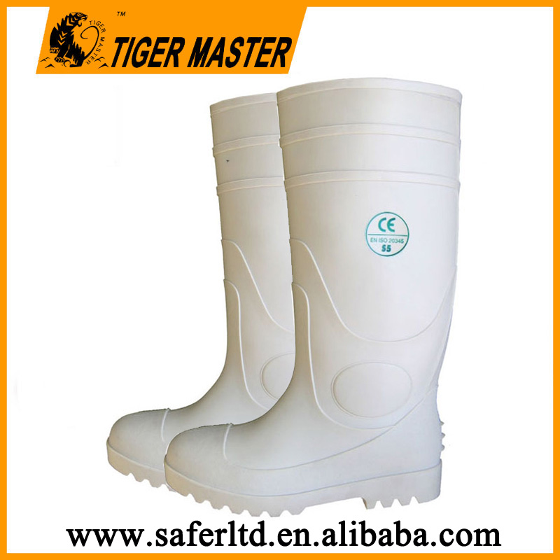 White food industry pvc boots