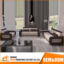 low price simple design furniture living room 5 seater sectional sofa set geunine leather sofa with storage