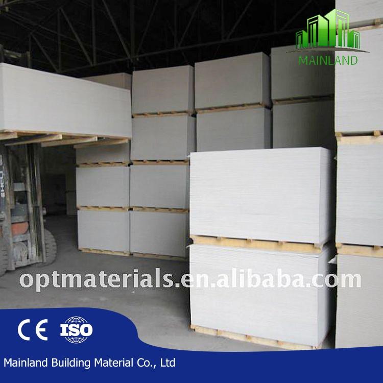 6mm/8mm/9mm/10mm/12mm fireproof Fiber reinforced cement wall sheets