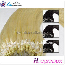 Wholesale Double Drawn 1g Remy Russian Double Drawn Micro Link Hair Extension