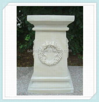 Fiberglass Decorative Wedding Pillars Columns For Sale