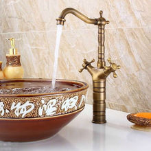 Antique Brass Mixer Basin Bathroom Faucet
